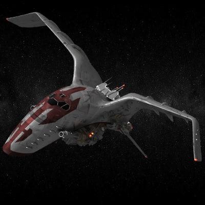 space ship spaceship 3d lwo
