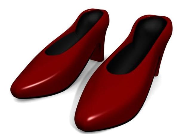 heel shoes 3d model