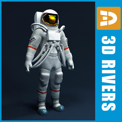 3d model spaceman person human space