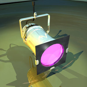 stage light 02 theater 3d model