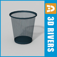 3d perforated trash cans model