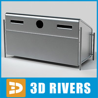 3d bin trash cans model