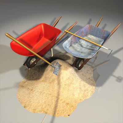 mason wheelbarrow 01 wheel 3d model