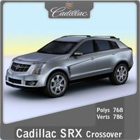 2010 cadillac srx crossover 3d model