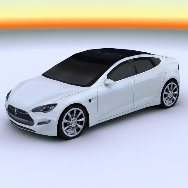 2011 tesla s 3d model