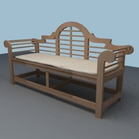 3d model of lutyens bench