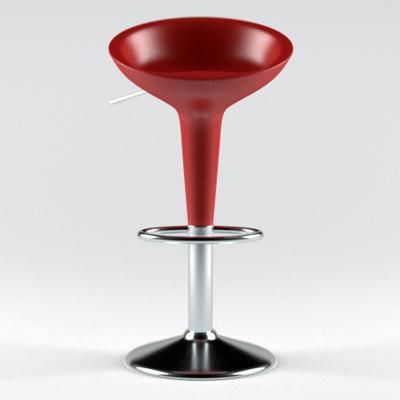 bombo stool 3d obj