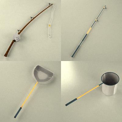 3d model fishing tools