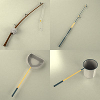 3d model fishing tools
