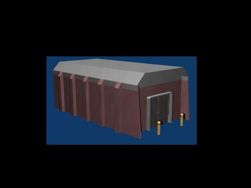 3dsmax inexpensive military storage facility