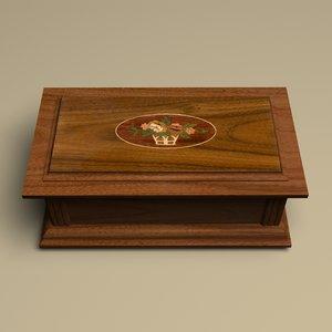 3d jewelry box wood