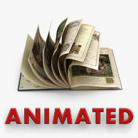 book animations 3d model