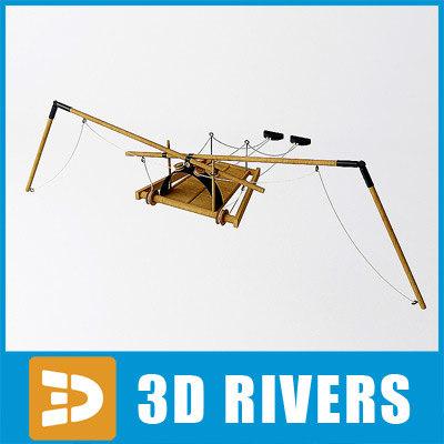 3d flying machine da vinci
