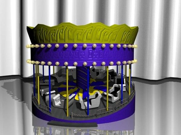 3d ride amusment park model