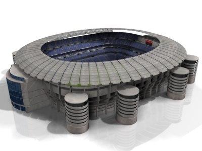 3d model stadium building