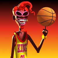 cartoon character hugo 3d model