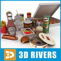 cookies food package packs 3d model
