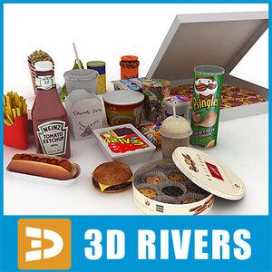 cookies food package packs 3d model