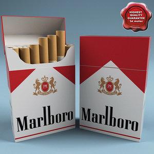 marlboro cigarettes 3d model