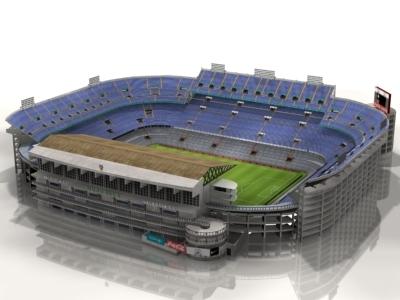 mestalla stadium 3d max