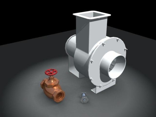 maya industrial fan