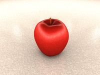 red apple 3d 3ds
