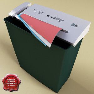 paper shredder shredstar 3ds