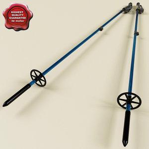 3d snowshoe poles