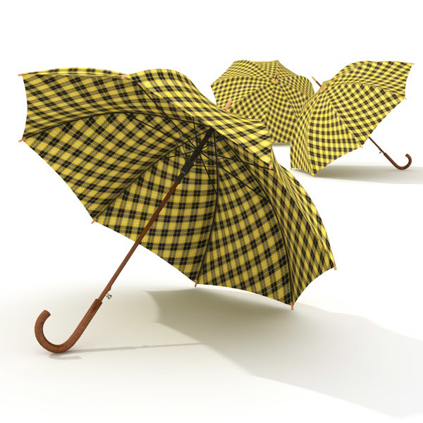 3d model beautiful umbrella