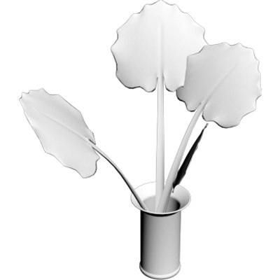 3d model elephant plant