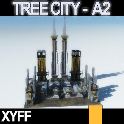3ds xyff tree city block
