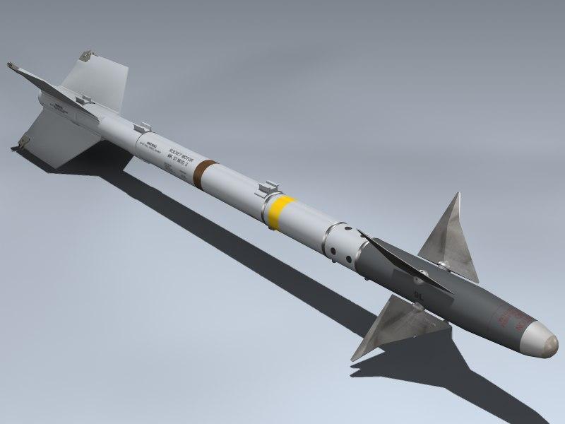 aim-9l sidewinder 3d model