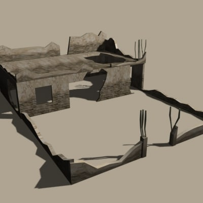 destructed home 3d 3ds