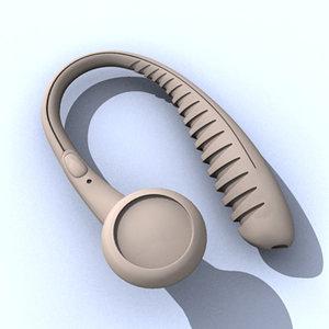 3d model of headset
