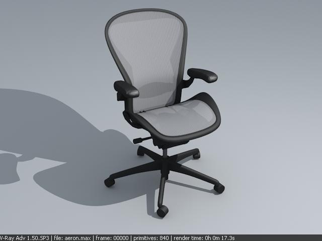 3d aeron chair