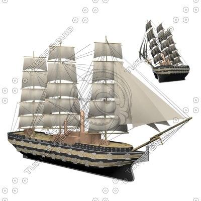 3d boat sailboat model