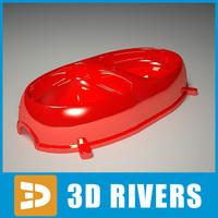 plastic dog bowl 3d max