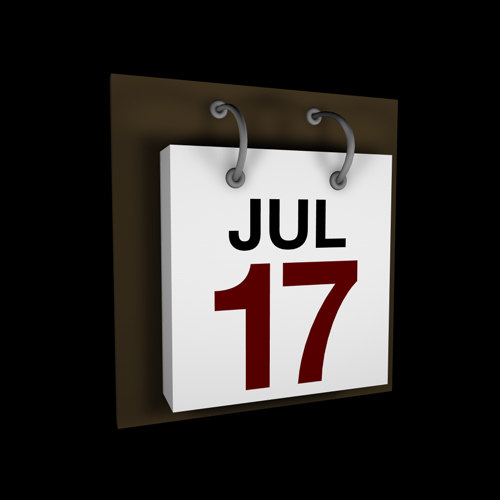 3d 3ds daily calender
