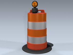 3d construction barrel