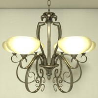 3ds ornate chandelier lfc001