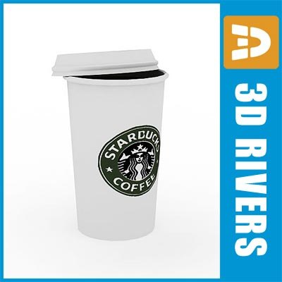 3d coffee paper cup model