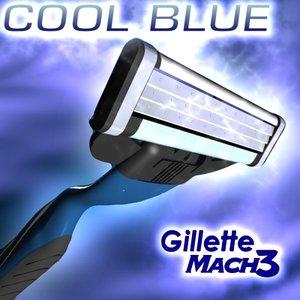 mach3 gillette cool blue 3d 3ds