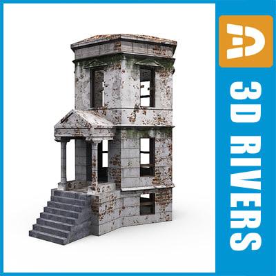 3d building door model
