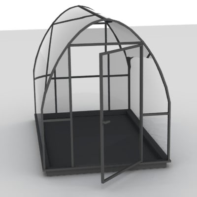 3d house green greenhouse model