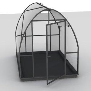 3d house green greenhouse model