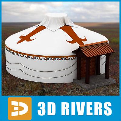 nomad tent home 3d 3ds