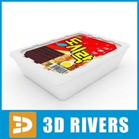 instant noodles pack 3d model
