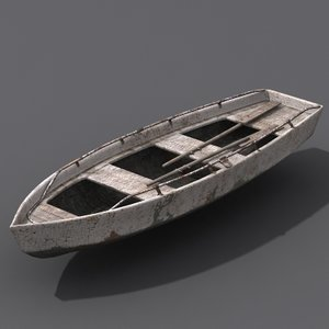 3d old fishing boat model