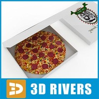 pizza box food 3d model