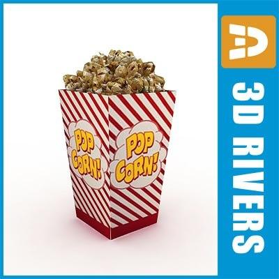 popcorn food corn 3ds